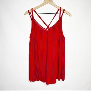 Maurices Plus Red Striped Tank Top 1